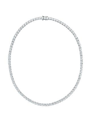 Jools by Jenny Brown Brilliant Cut Cubic Zirconia Sterling Silver Tennis Necklace