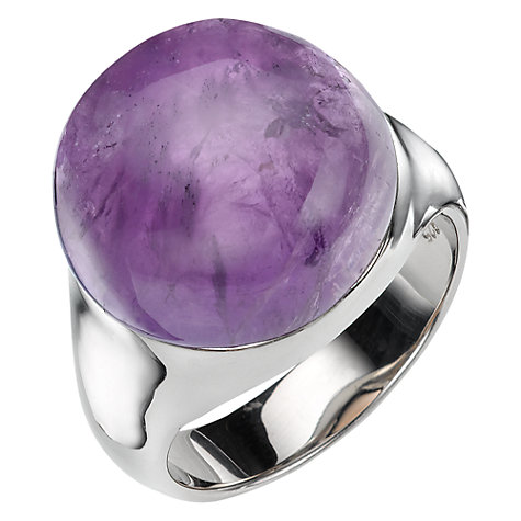 Buy A B Davis Sterling Silver Semi Precious Bubble Stone Ring Online at johnlewis.com