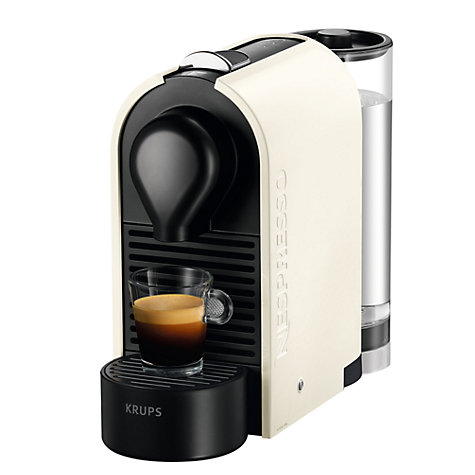 buy nespresso u coffee machine by krups john lewis. Black Bedroom Furniture Sets. Home Design Ideas
