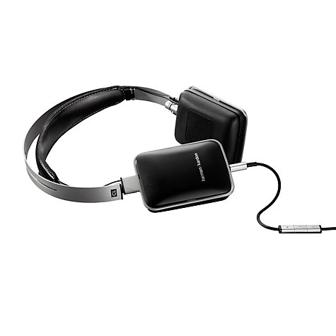 Buy Harman Kardon Classic On-Ear Headphones with Microphone, Black/Silver Online at johnlewis.com