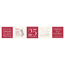 Buy East of India Stickers, Christmas Mix, Pack of 35, Red/White Online at johnlewis.com