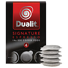 Buy Dualit 15110 Signature Espresso ESE Pods, Pack of 14 Online at johnlewis.com