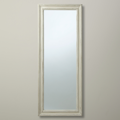 John Lewis Distressed Full Length Mirror, Cream, 132 x 52cm