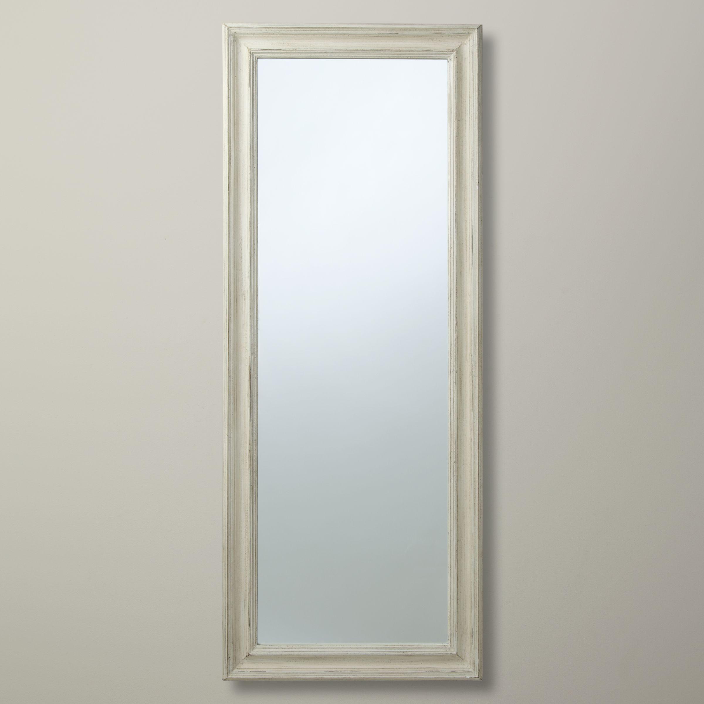 John Lewis & Partners Distressed Full Length Mirror, 132 x 52cm, Cream