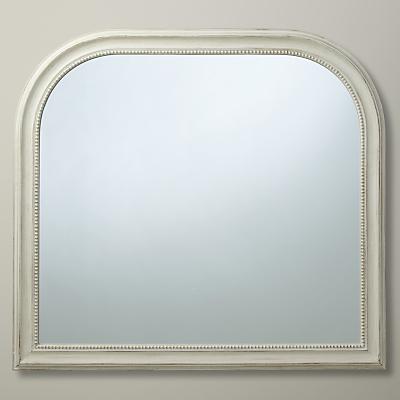 John Lewis Distressed Overmantel Mirror, 95 x 104cm, Cream