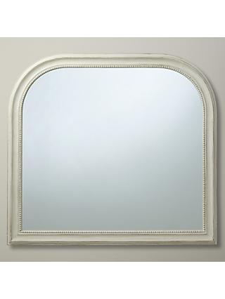 John Lewis & Partners Distressed Overmantel Mirror, 95 x 104cm, Cream