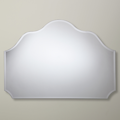 John Lewis Glass Scallop Overmantel Mirror, 77 x 108cm