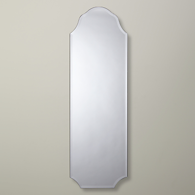 John Lewis Full Length Scallop Mirror, 34.8 x 110cm