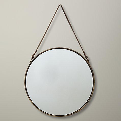 Buy john lewis round hanging mirror matt brass for Mirror 40cm wide