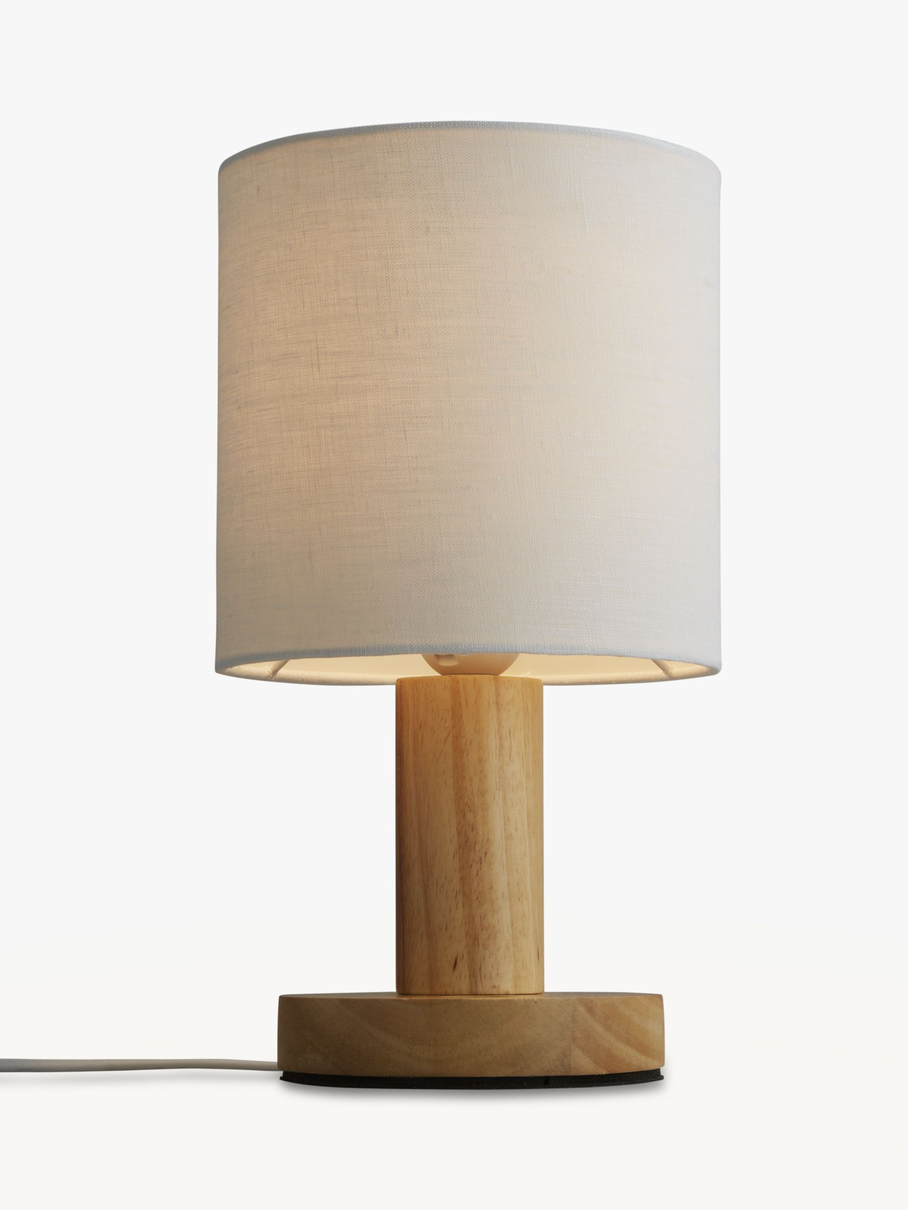 John Lewis Partners Slater Wood Touch Table Lamp