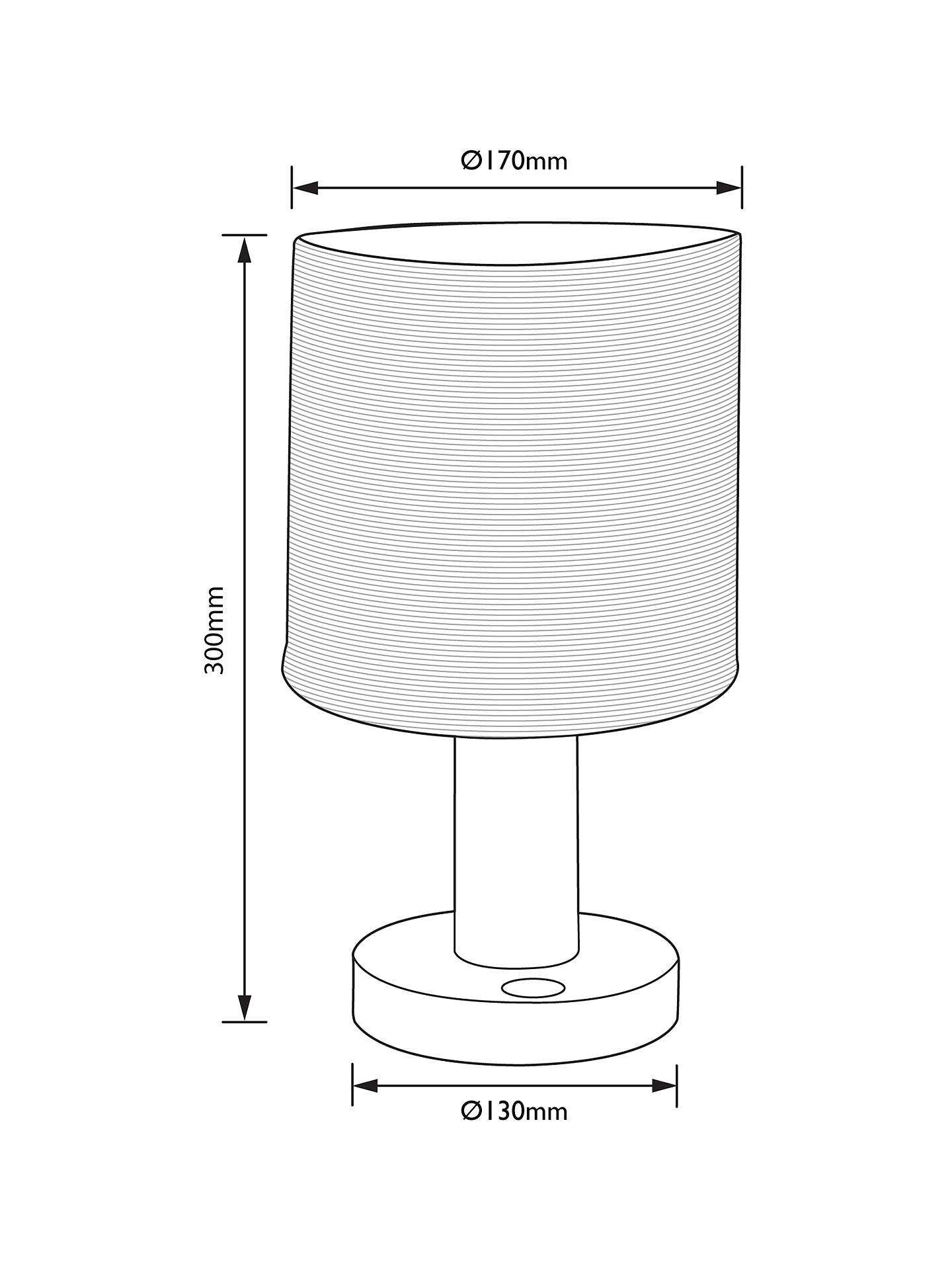 Buy John Lewis & Partners Slater Wood Touch Table Lamp Online at johnlewis.com
