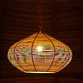 John Lewis Easy-to-fit Belle Bamboo Ceiling Shade