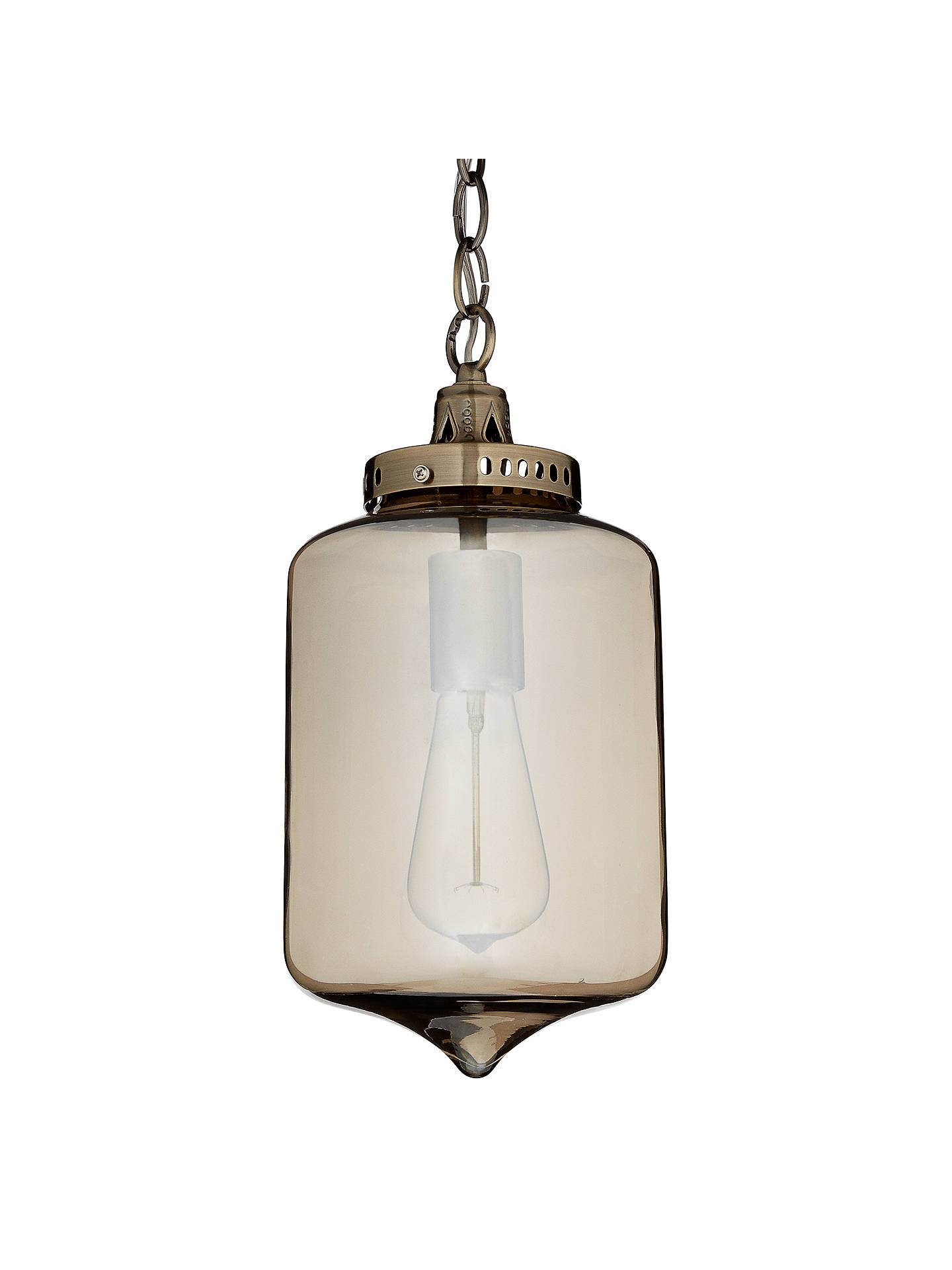 Buy John Lewis & Partners Christophe Smoked Lantern Pendant Online at johnlewis.com