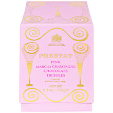 Buy Prestat Marc de Champagne Pink Chocolate Truffles, 175g Online at johnlewis.com