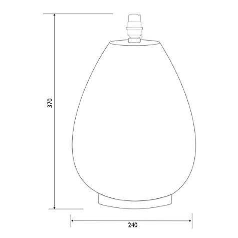 Buy John Lewis Valda Pot Lamp Base, Steel Online at johnlewis.com