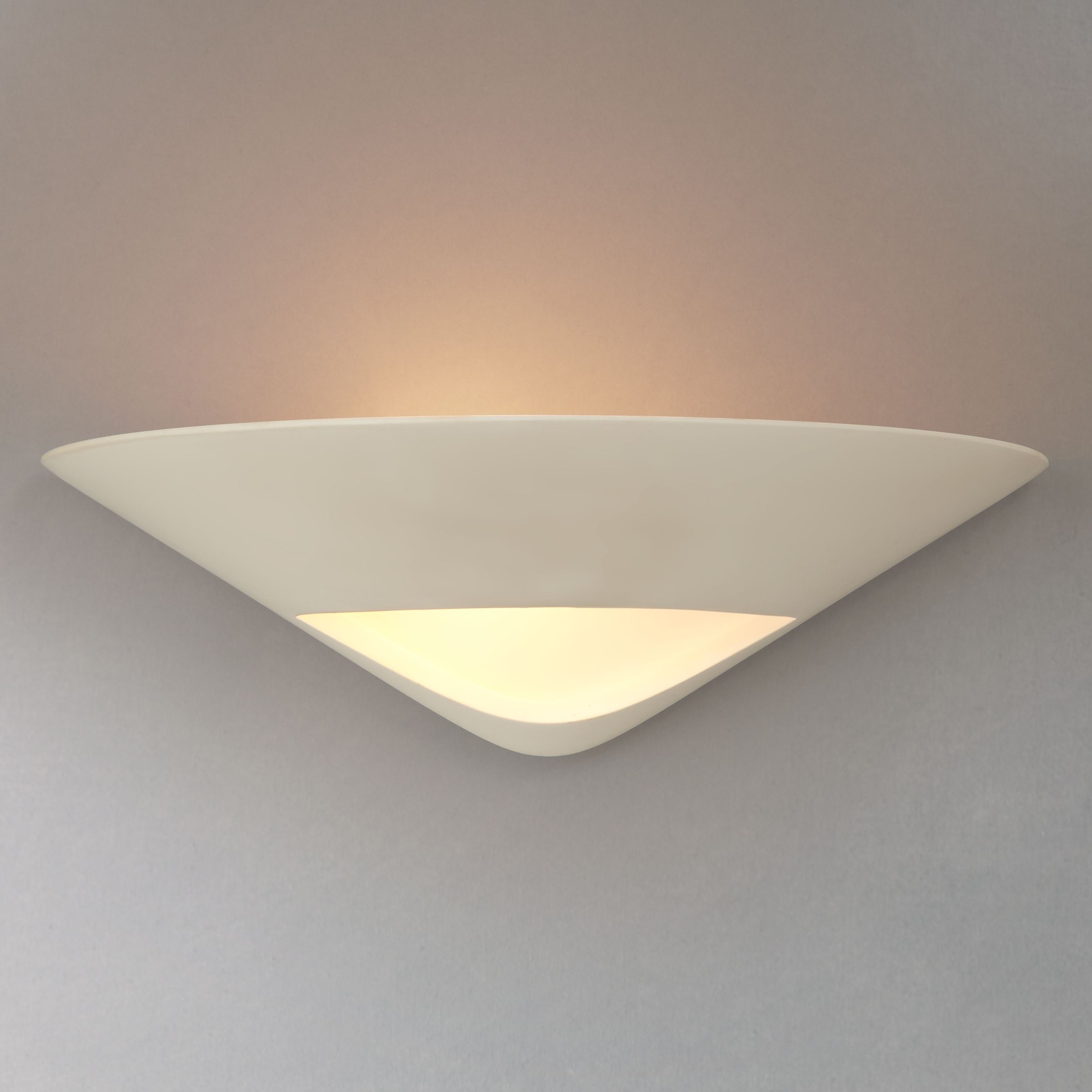 John Lewis Wall Lights Glass : Buy John Lewis Tessa Plaster and Glass Wall Uplighter John Lewis