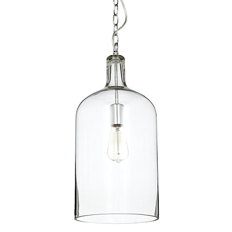 Buy John Lewis Croft Collection William Bottle Glass Pendant Online at johnlewis.com