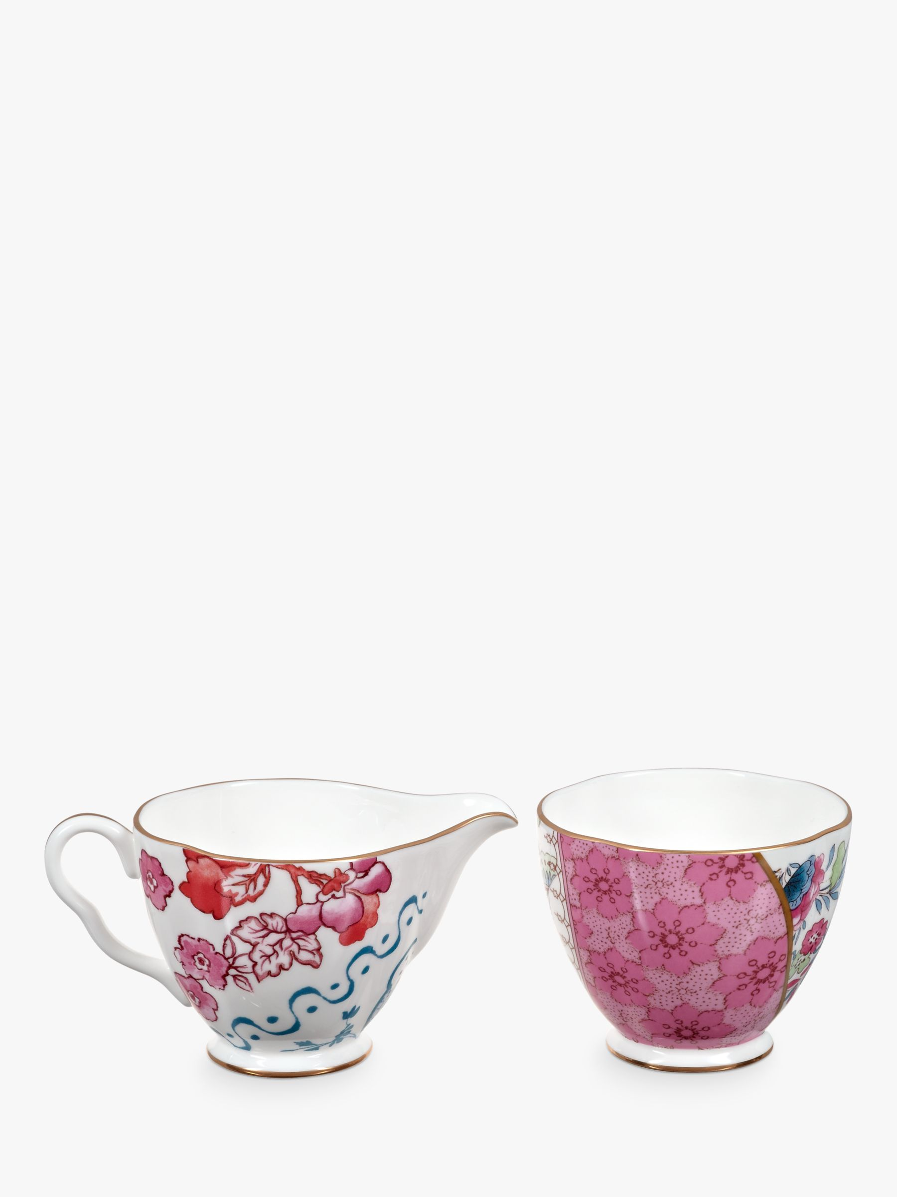 Wedgwood Wedgwood Butterfly Bloom Sugar Bowl and Creamer