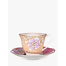 Buy Wedgwood Butterfly Bloom Cup and Saucer Set, Yellow Online at johnlewis.com