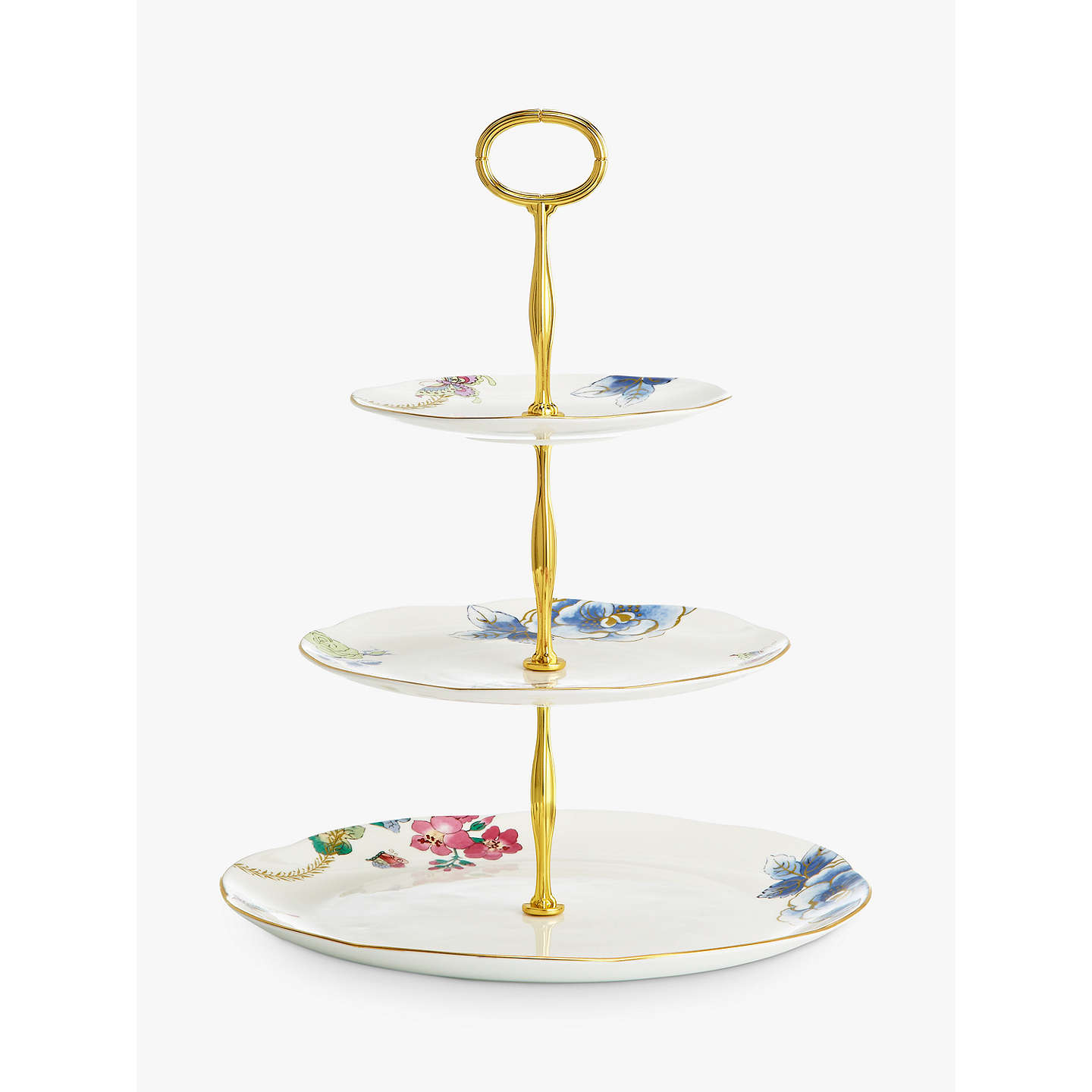 wedgwood butterfly bloom three tier cake stand at john lewis. Black Bedroom Furniture Sets. Home Design Ideas