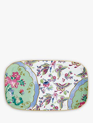 Wedgwood Butterfly Bloom Sandwich Tray, Green/Multi