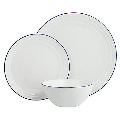 John Lewis Coastal China Dinnerware Set, 12 Piece