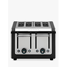 Buy Dualit 46525 Architect 4-Slice Toaster, Polished Steel / Black + FREE Sandwich Cage Online at johnlewis.com