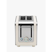 Buy Dualit 26523 Architect 2-Slice Toaster, Canvas White + FREE Sandwich Cage Online at johnlewis.com