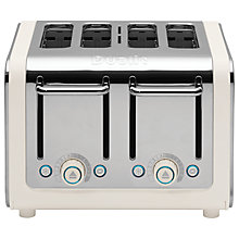 Buy Dualit 46525 Architect 4-Slice Toaster, Polished Steel / Canvas White + FREE Sandwich Cage Online at johnlewis.com