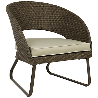 John Lewis Corsica Outdoor Lounging Armchair, Set of 2, Pebble Grey