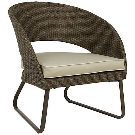 Buy John Lewis Corsica Outdoor Lounging Armchair, Set of 2, Pebble Grey Online at johnlewis.com