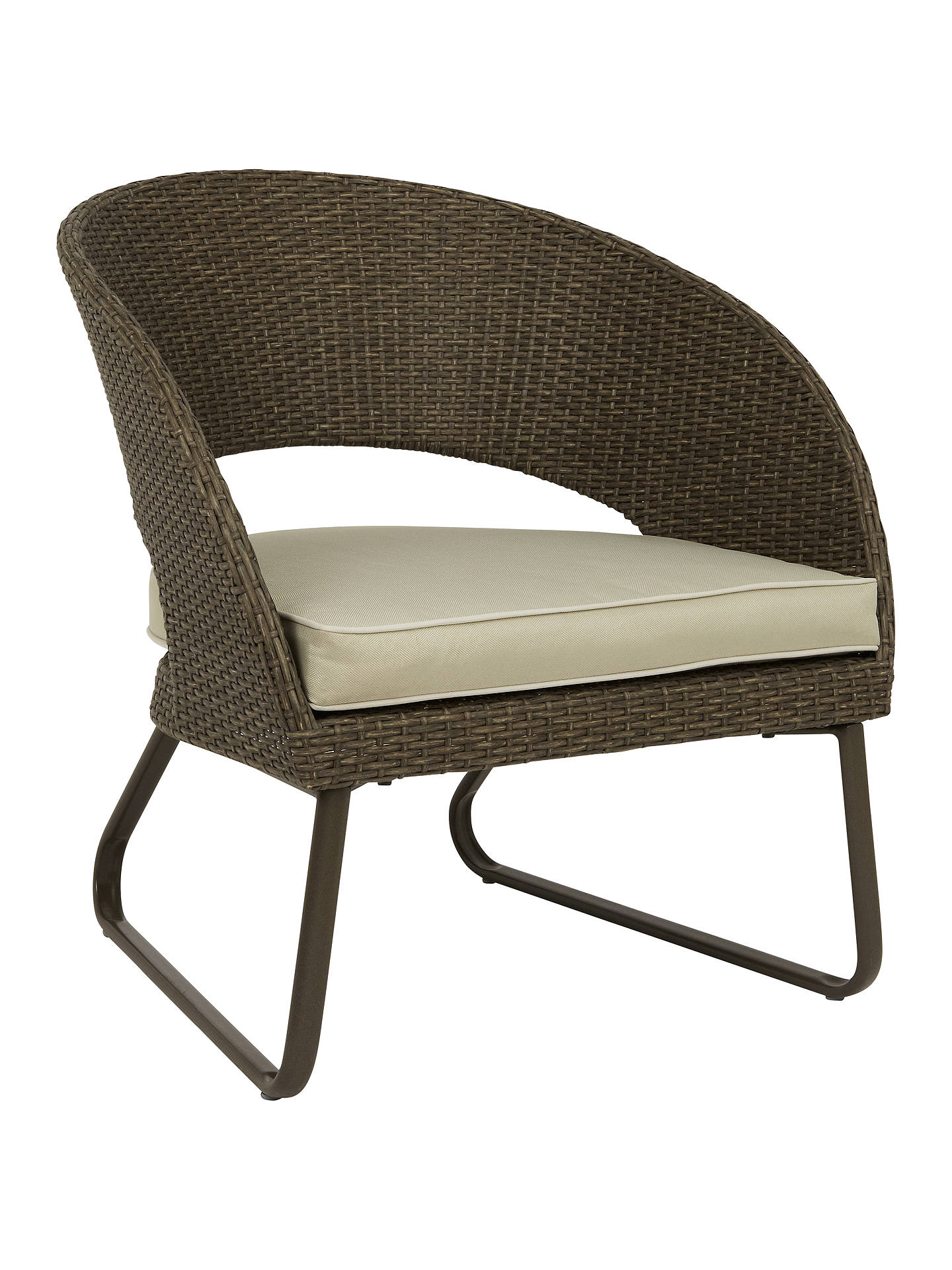 Buy John Lewis & Partners Corsica Garden Lounging Armchair, Set of 2, Pebble Grey Online at johnlewis.com