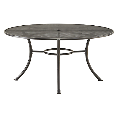 John Lewis Henley by KETTLER Round 6-Seater Outdoor Dining Table, Dia.150cm, Grey
