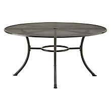 Buy John Lewis Henley by KETTLER Round 6-Seater Outdoor Dining Table, Dia.150cm, Grey Online at johnlewis.com