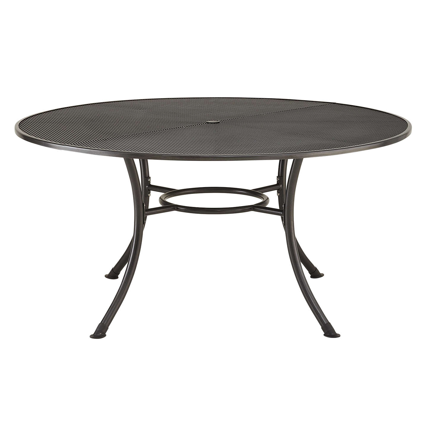 BuyJohn Lewis Henley by KETTLER Round 6-Seater Garden Dining Table, Dia.150cm, Grey Online at johnlewis.com
