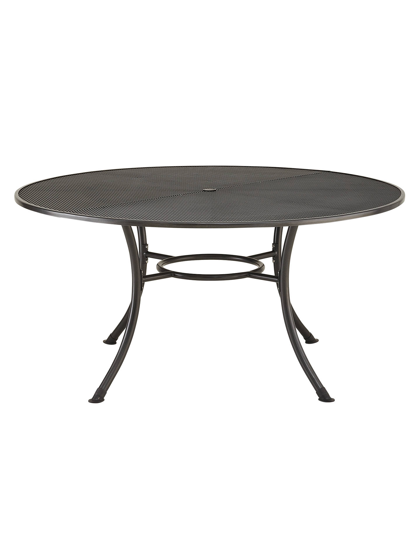 BuyJohn Lewis & Partners Henley by KETTLER Round 6-Seater Garden Dining Table, Dia.150cm, Grey Online at johnlewis.com