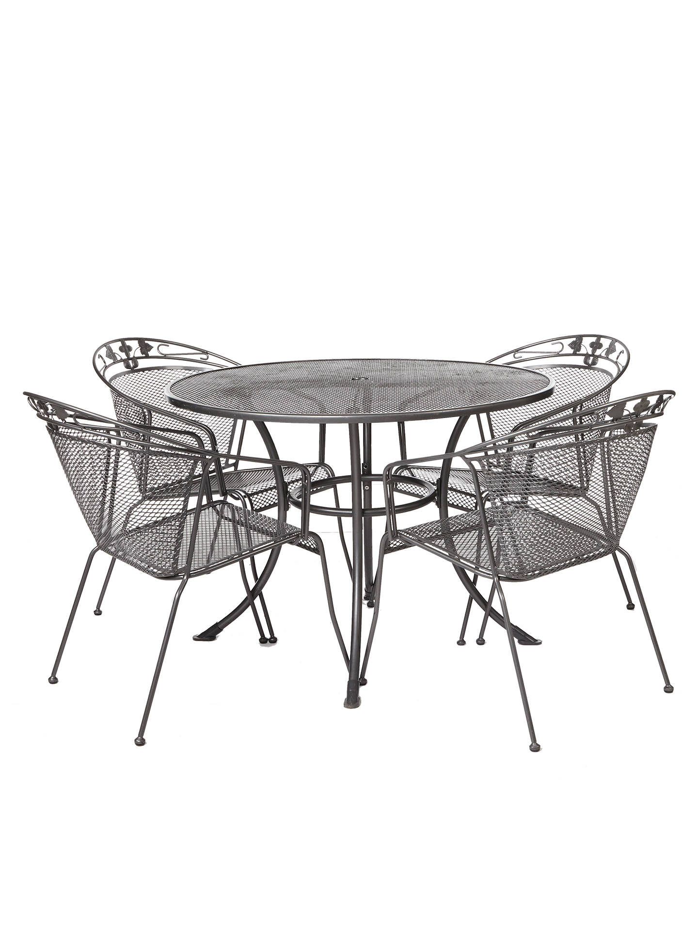 BuyJohn Lewis & Partners Henley by KETTLER 4-Seater Garden Dining Table, Grey Online at johnlewis.com