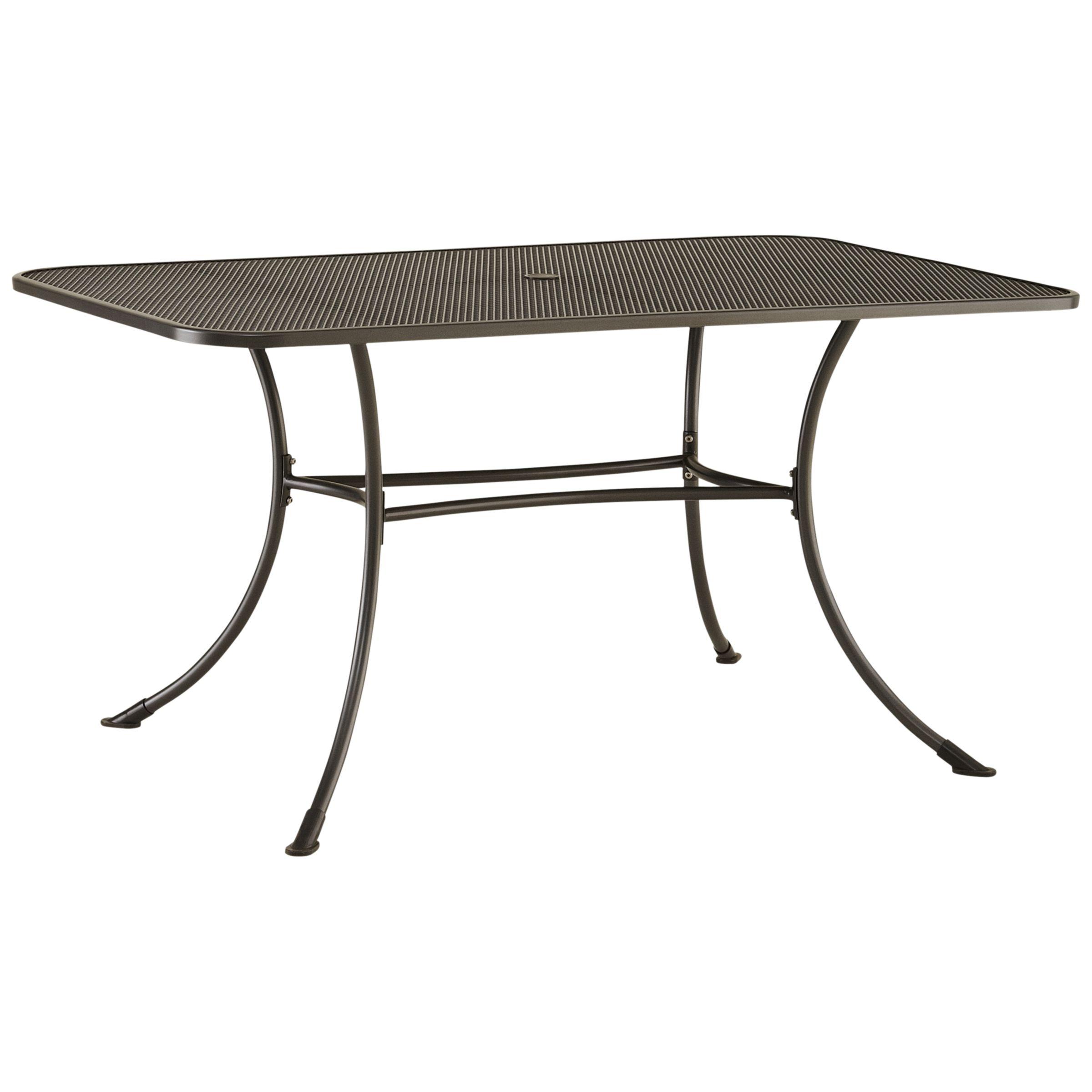 John Lewis & Partners Henley by KETTLER 6-Seater Rectangular Garden Dining Table, Grey