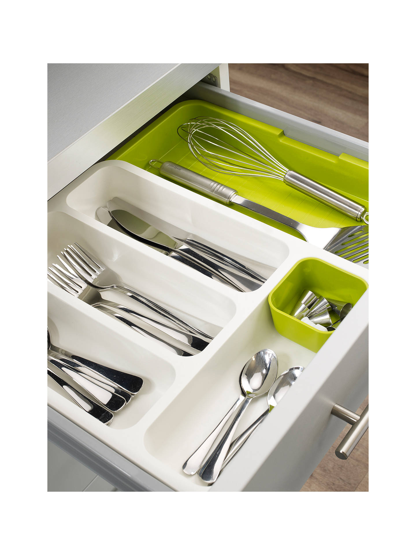 455303909308 ... Buy Joseph Joseph DrawerStore Expandable Cutlery Tray, White / Green  Online at johnlewis.com ...