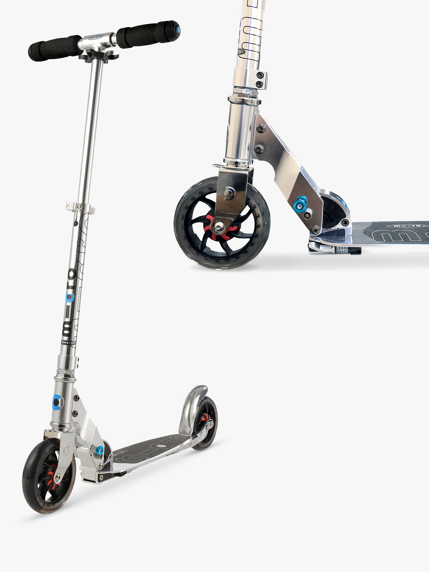 d4c8335d25b Buy Micro Speed Scooter, Adult, Grey Online at johnlewis.com ...