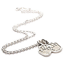 Buy FingerPrint Jewellery Two Little Handprint Charms Necklace, Silver Online at johnlewis.com