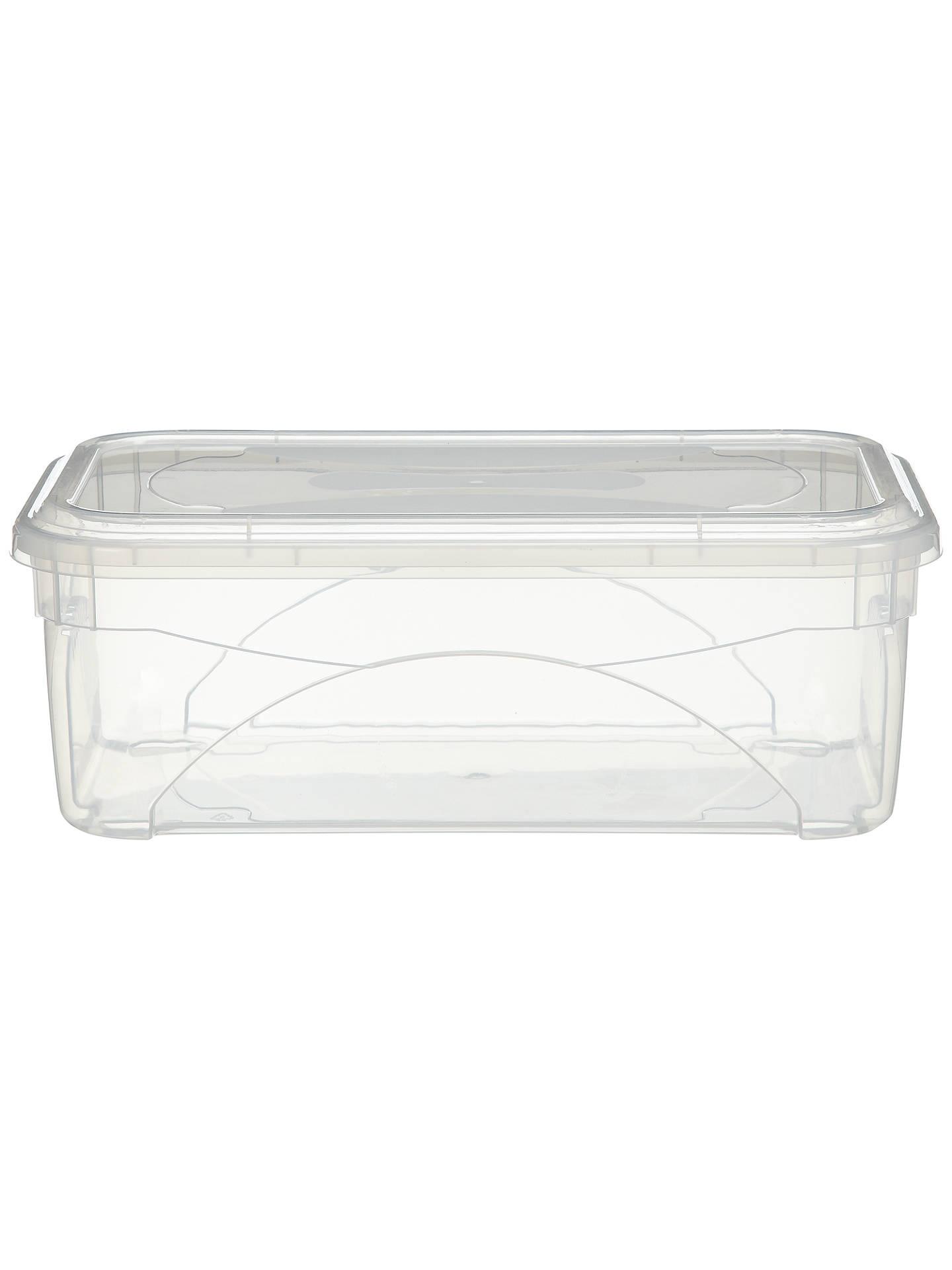 Enjoyable John Lewis Clear Plastic Lidded Storage Box 11L At John Dailytribune Chair Design For Home Dailytribuneorg