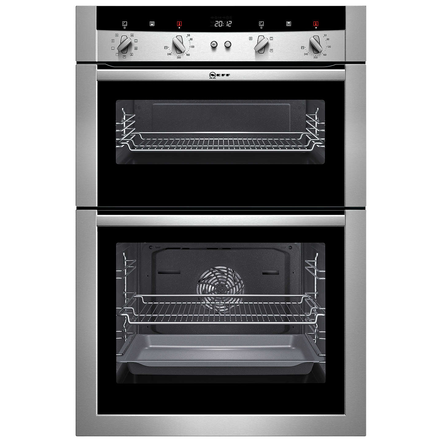 neff u15m52n3gb double electric oven stainless steel at john lewis rh johnlewis com