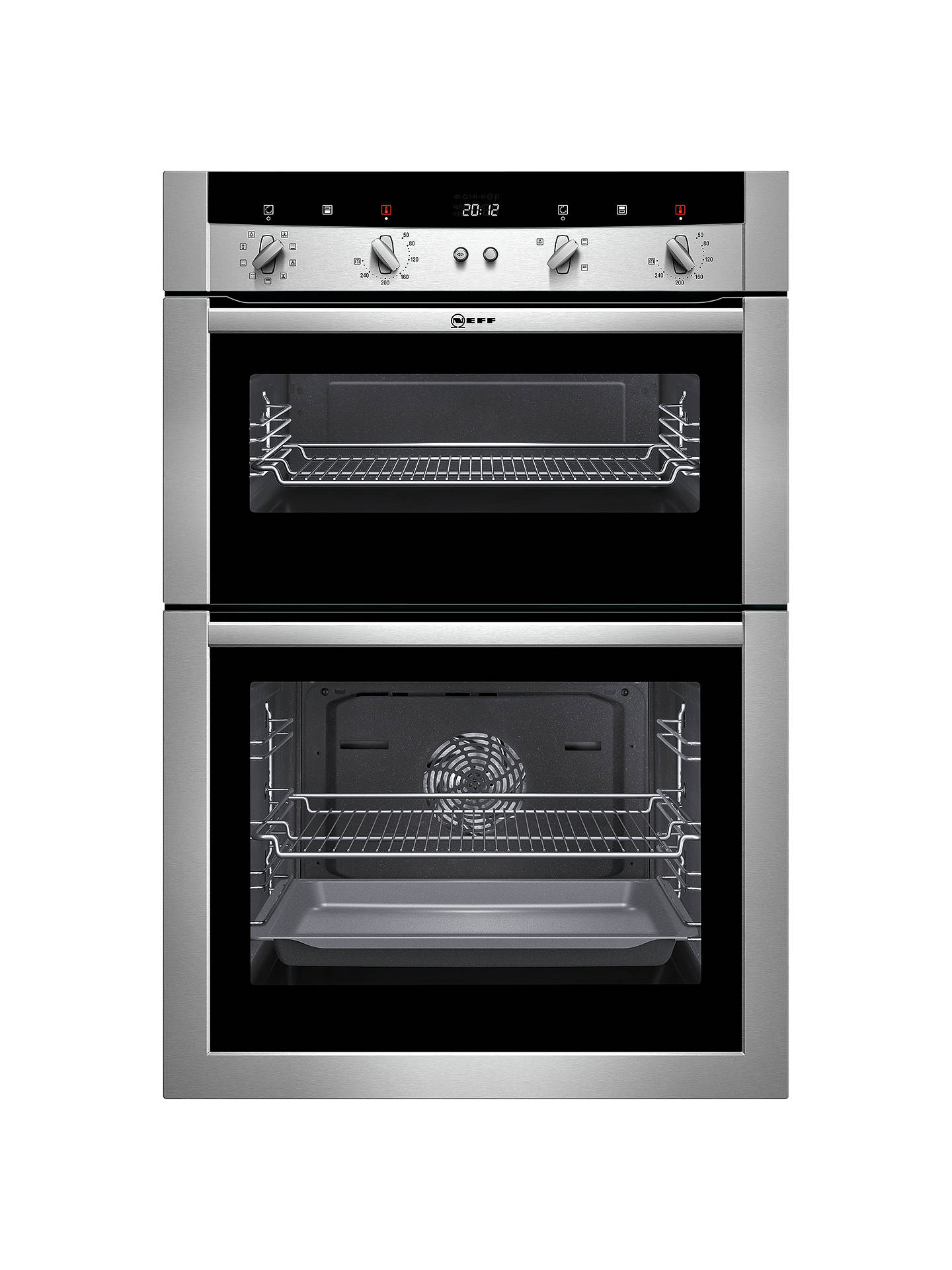 Fabulous Neff U15M52N3Gb Double Electric Oven Stainless Steel At John Lewis Wiring 101 Tzicihahutechinfo