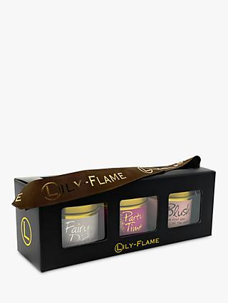 Lily-flame Pinks Scented Candle Tin Trio