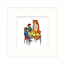 Buy Judith Kerr - Tea With Tiger Framed Print, 23 x 23cm Online at johnlewis.com