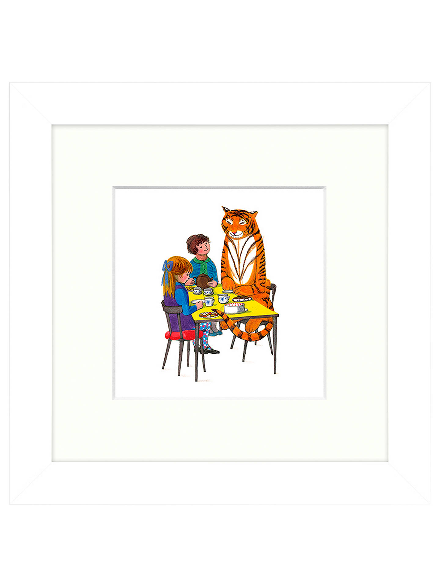 BuyJudith Kerr - Tea With Tiger Framed Print, 23 x 23cm Online at johnlewis.com