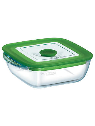 Buy Pyrex Glass Square Storage Oven Dish with Lid, 1L Online at johnlewis.com