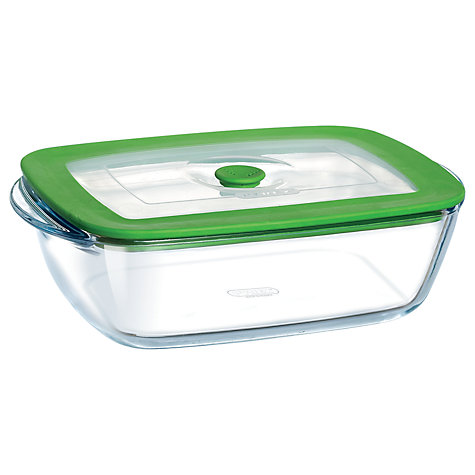 Buy Pyrex Glass Rectangular Storage Oven Dish with Lid, 2.6L Online at johnlewis.com