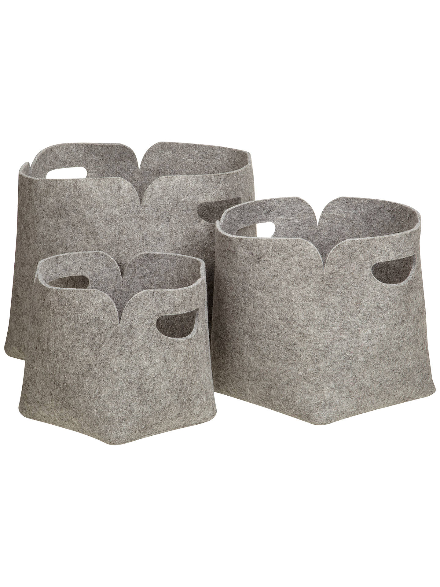 Buy John Lewis & Partners Felt Storage Boxes, Set of 3 Online at johnlewis.com
